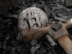 Bitcoin mining. A mine with real hardware