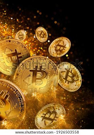 bitcoin mining concept, digital money