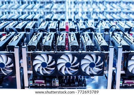 bitcoin mining farm. it...
