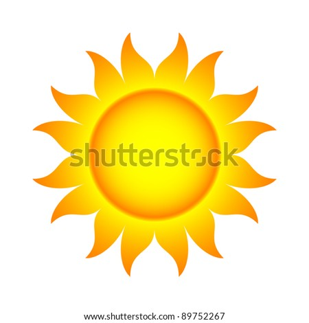 Bitmap Illustration of Abstract Sun With Flames (.jpg file has clipping path)