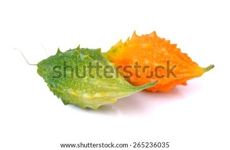 bitter melon on white background  - Shutterstock ID 265236035