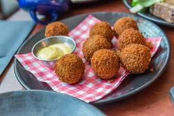 Bitterballen, a typically Dutch food (croquet)
