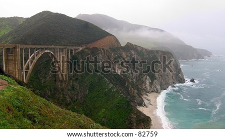 Bixby Bridge on Highway 1, CA