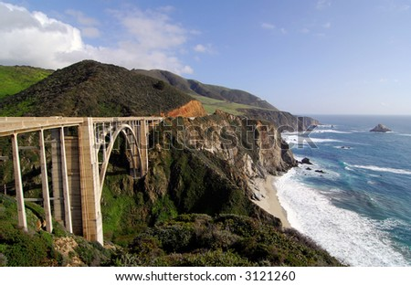 Bixby Bridge on the Big Sur Coast of California