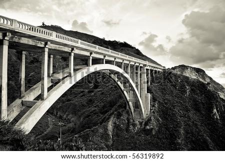 Bixby Creek Bridge - CA-1 (Big Sur) - stock photo