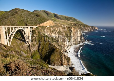 Bixby Creek Bridge is a reinforced concrete open-spandrel  arch bridge in Big Sur, California.