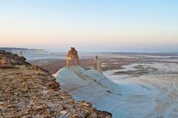Bizarre rock figures in the Boszhira place, west Kazakhstan Mangistau region