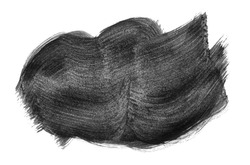 Black abstract aquarel watercolor stain background isolated on white. Black acrylic watercolor brush strokes.