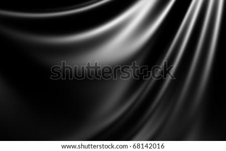 Black Abstract Cloth