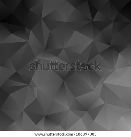 Black abstract irregular triangle pattern background - jpeg version