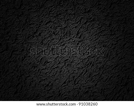 Black abstract plastic texture