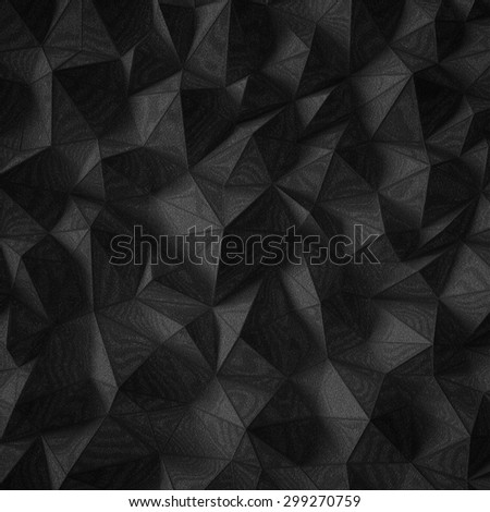 black abstract polygonal surface