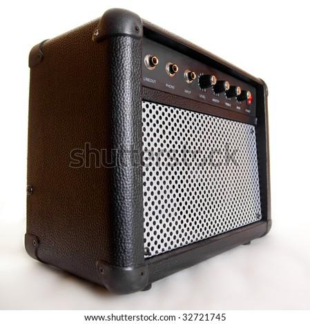 black acoustic speaker- studio shoot