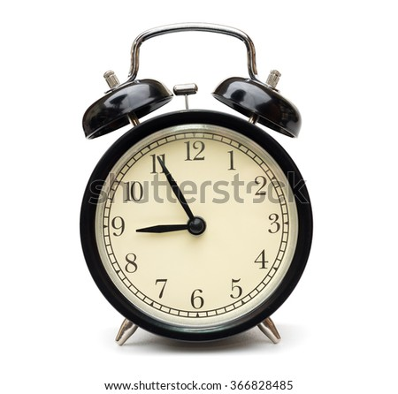 black alarm clock isolated on...