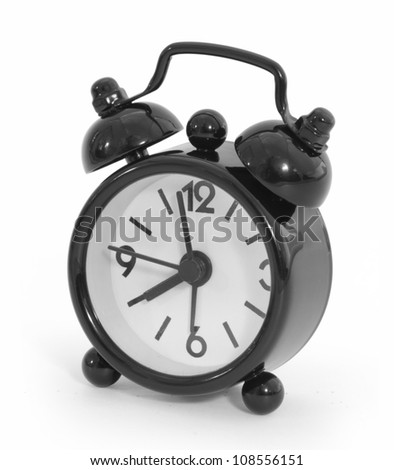 Black alarm. isolated on white with clipping path.