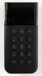 Black Alarm Keypad on a Wooden White Wall