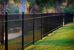 Black Aluminum Fence 3 Rails