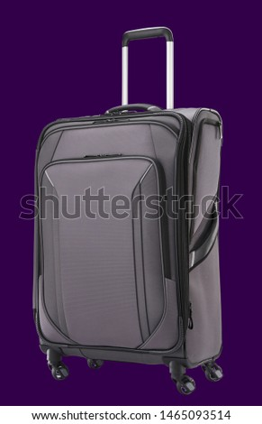 black and ash colour trolly baggage
