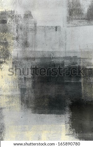 Black and Beige Abstract Art Painting