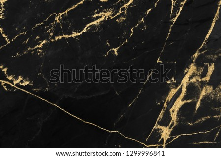 Black and gold marble texture design for cover book or brochure, poster, wallpaper background or realistic business and design artwork. #1299996841