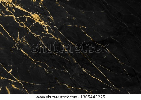 Black and gold marble texture design for cover book or brochure, poster, wallpaper background or realistic business and design artwork. #1305445225
