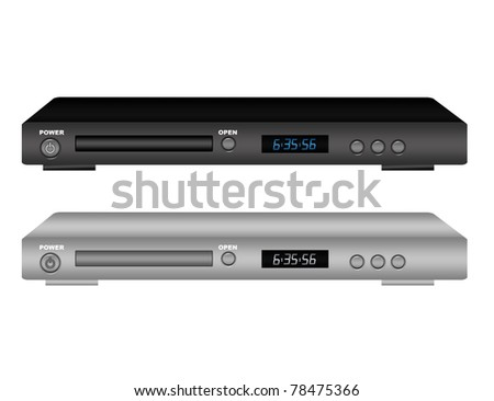 black and gray blue ray isolate over white background - stock photo
