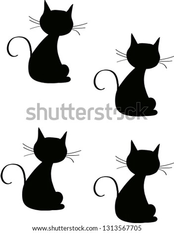 black and grey cats