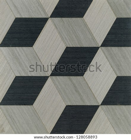 black and light wood pattern Rhomboid shape