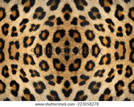 Black and orange kaleidoscope leopard fur pattern #223058278