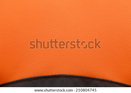 Black and orange leather texture background - rough surface