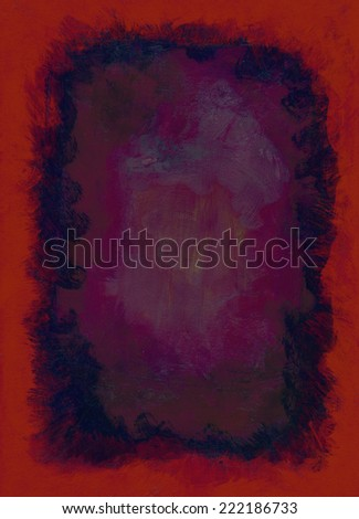 Black and red acrylic paint abstract texture background