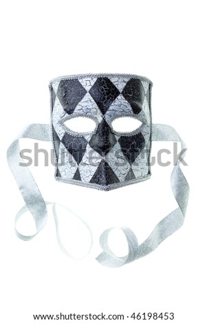 black and silver mask isolated on a white background