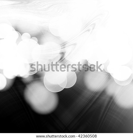 black and white abstract background with smooth lines