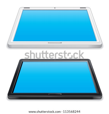 Black and White Abstract Tablet PC.