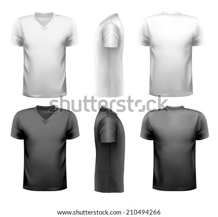 Black and white and color men t-shirts Design template