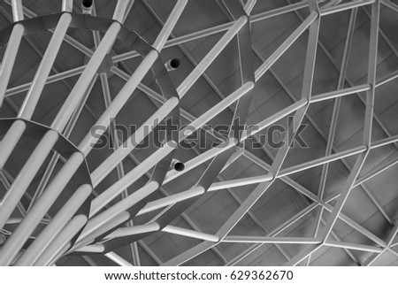 Black and white Architect from steels. - Shutterstock ID 629362670