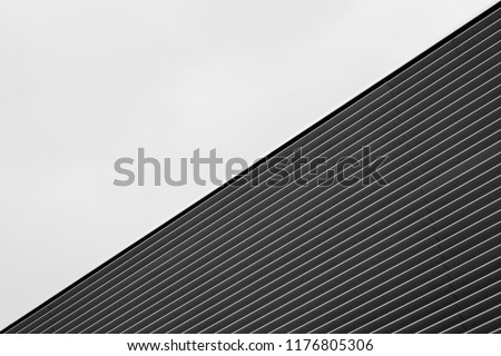 black and white architecture building wall design minimalism style #1176805306