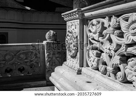 Black and white arhitecture wall design Imagine de stoc ©