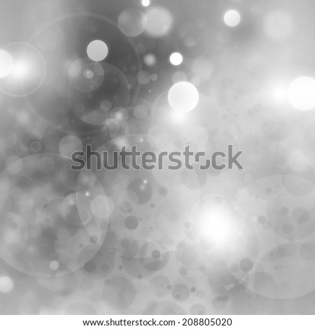 black and white background bokeh lights, soft blurred twinkling stars in night sky