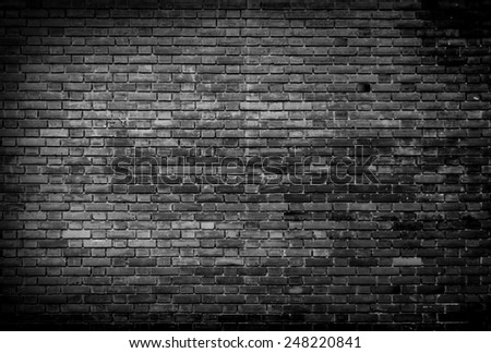Black and white Background of brick wall