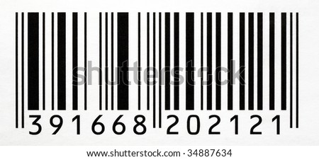 Black And White Bar Code With Numbers