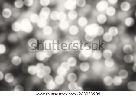 Black and white Bokeh background. Element of design.