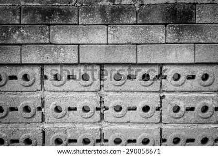 Black and white  brick texture
