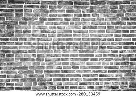 Black and white brick texture, background