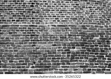 Black And White Brick Wall Detail Stock Photo 35265322