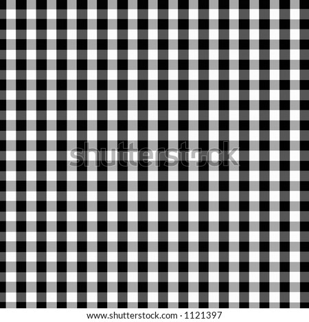 Black and White Buffalo Gingham Pattern with slight fabric grain and texture