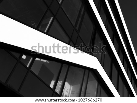 Black and white building #1027666270