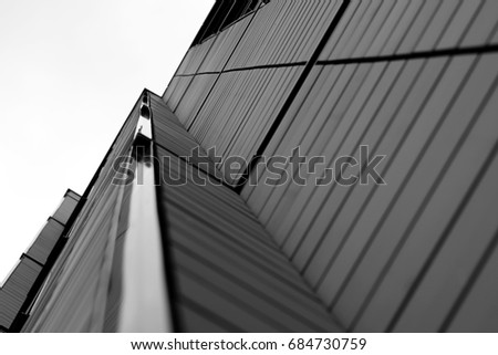 Black and White Building Closeup #684730759