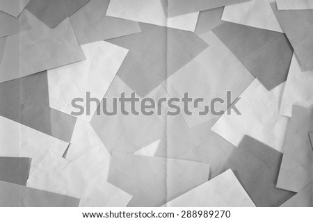 Black and white cards background. Set of different black and white paper.
