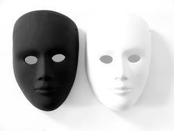 black and white carnival masks